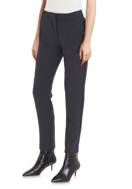 Zwarte broek met witte stippen - slim fit