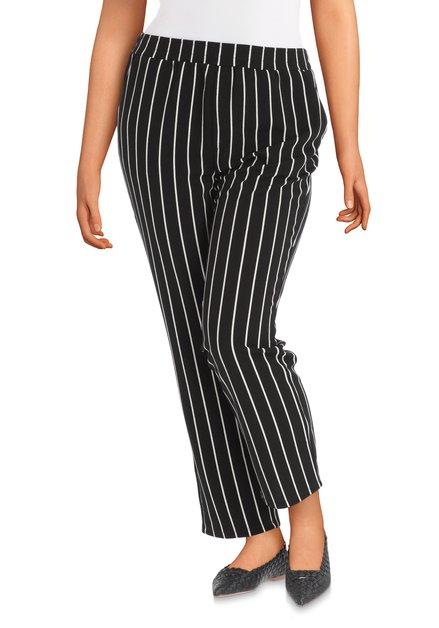 Zwarte broek met witte strepen