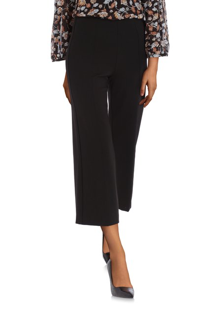 Zwarte culotte met elastische tailleband