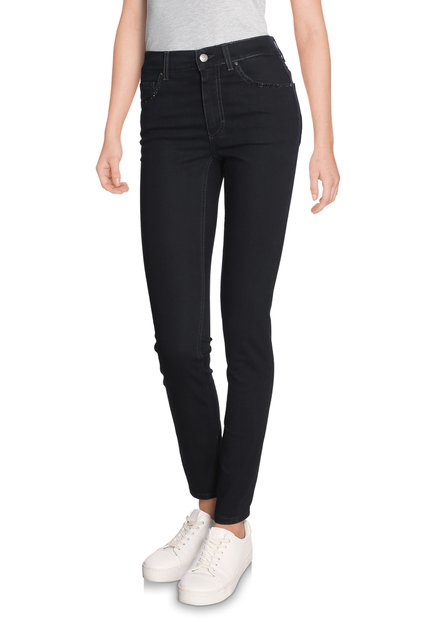 Zwarte denim met strass - skinny fit