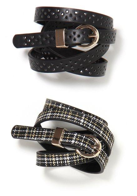 Zwarte dubbele riem