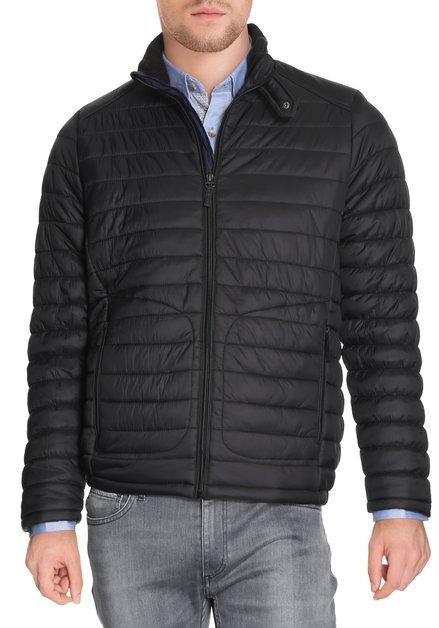 Zwarte gematelasseerde jas met rits