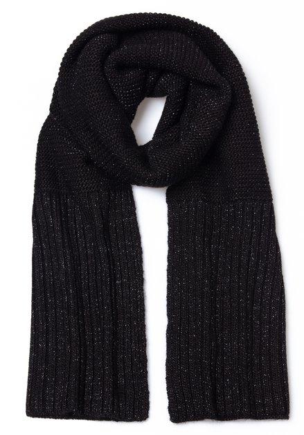 Zwarte geribde sjaal met lurex
