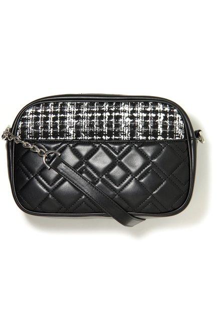 Zwarte handtas met chanelstof