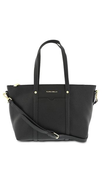 Zwarte handtas met goudkleurige rits