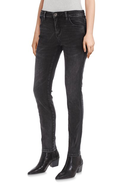 Zwarte jeans in stretchstof - slim fit