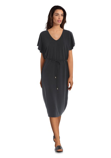 Zwarte jurk met vlindermouwen