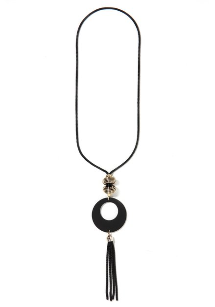 Zwarte ketting met grote hanger