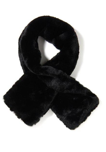 Zwarte korte sjaal in nepbont
