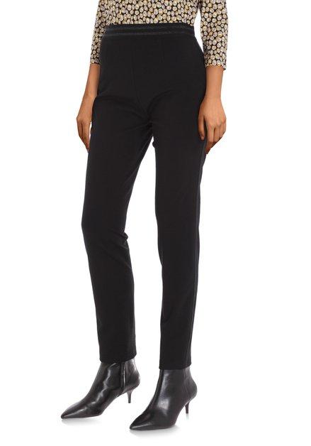 Zwarte legging met biesje