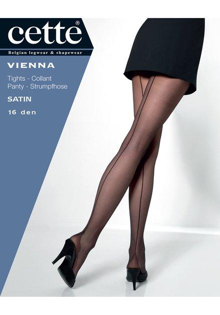 Zwarte panty met streep - Vienna - 16 den