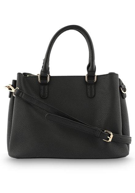 Zwarte ruime handtas in kunstleder