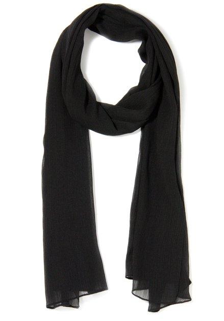 Zwarte semitransparante sjaal