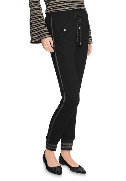 Zwarte sportieve broek met elastische taille