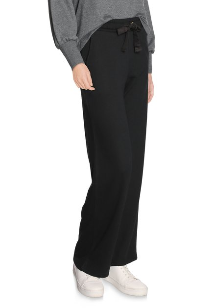 Zwarte sweatpants met taillelint