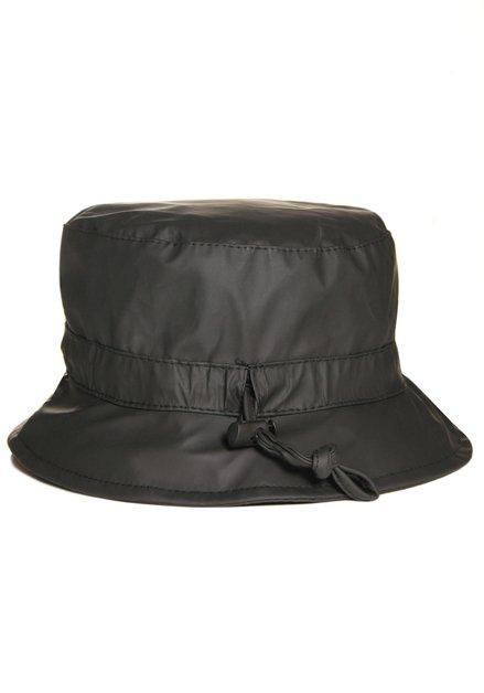 Zwarte waterafstotende hoed