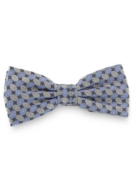 Zwarte zijden strikdas met ovalen