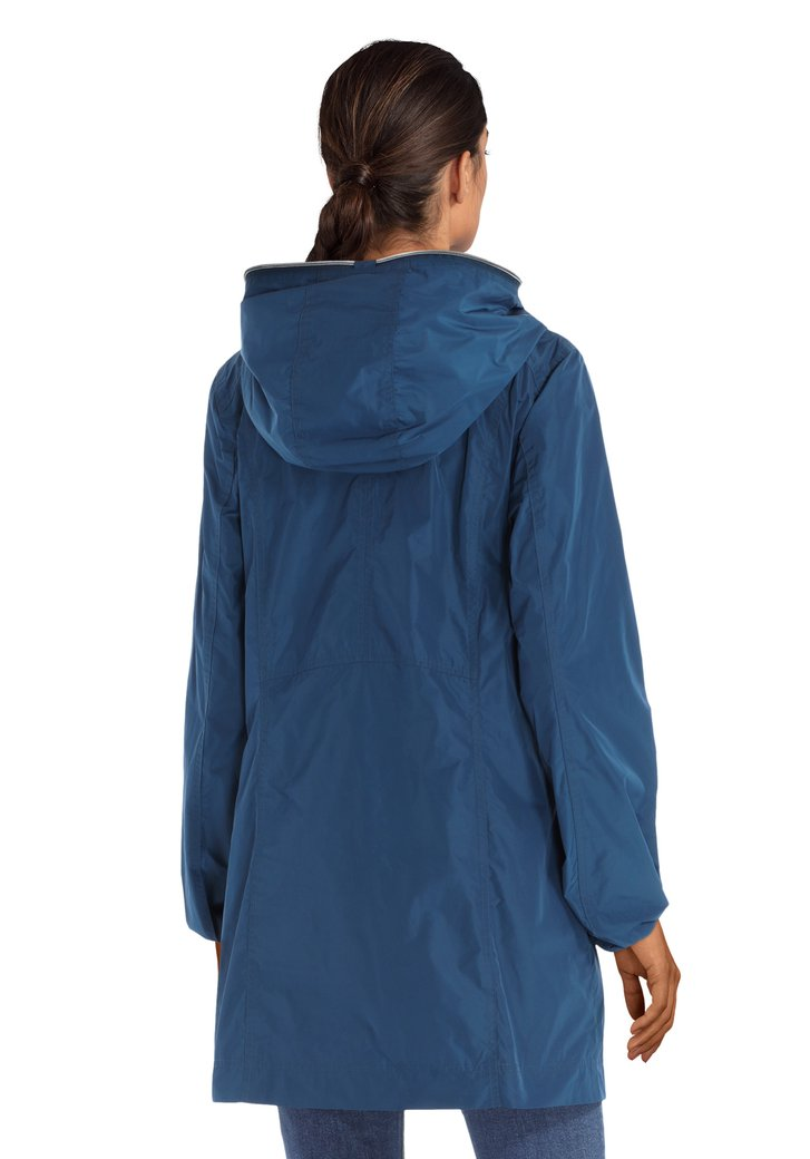347f9caf9e07e8 Blauwe regenjas van Sarandi   5162622   e5 mode