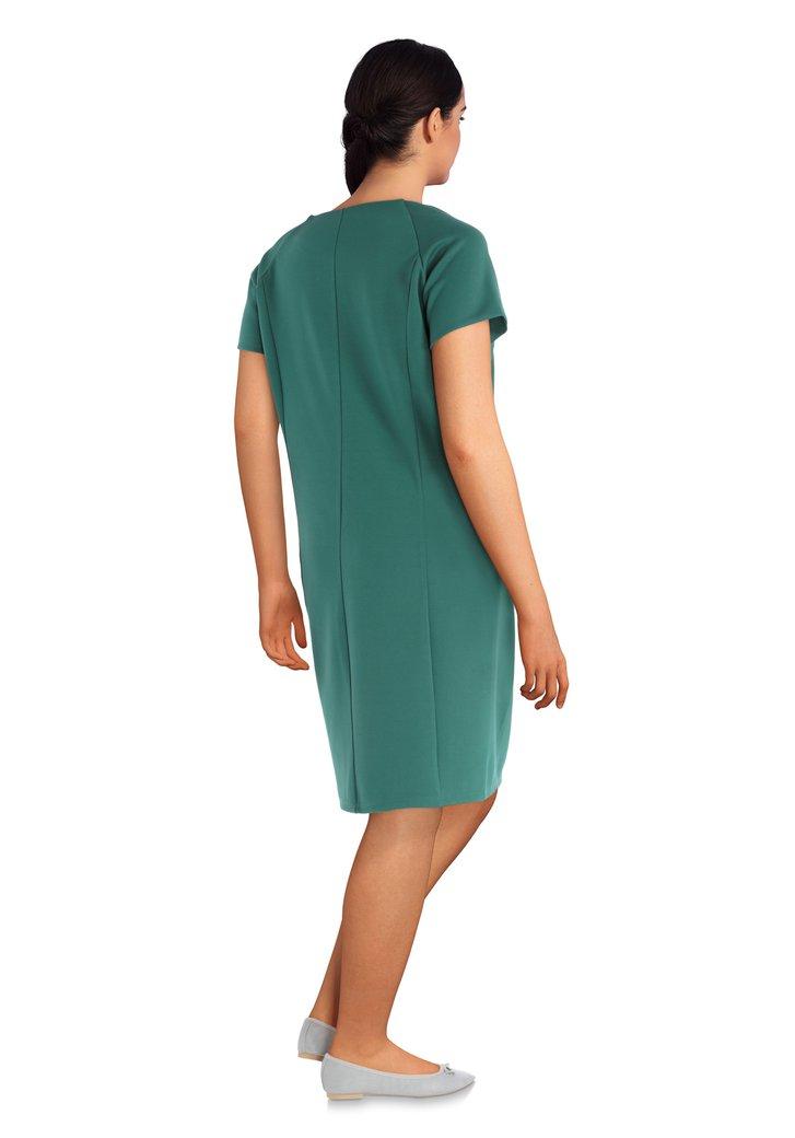 dce5c541edeeac Groen gecentreerd kleed met korte mouwen van Zizzi