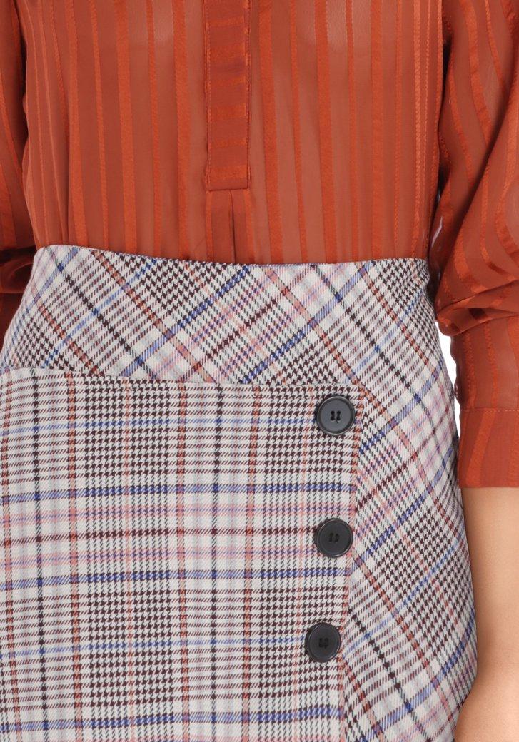 Robe à carreaux avec boutons Scarlett Boutique Femme