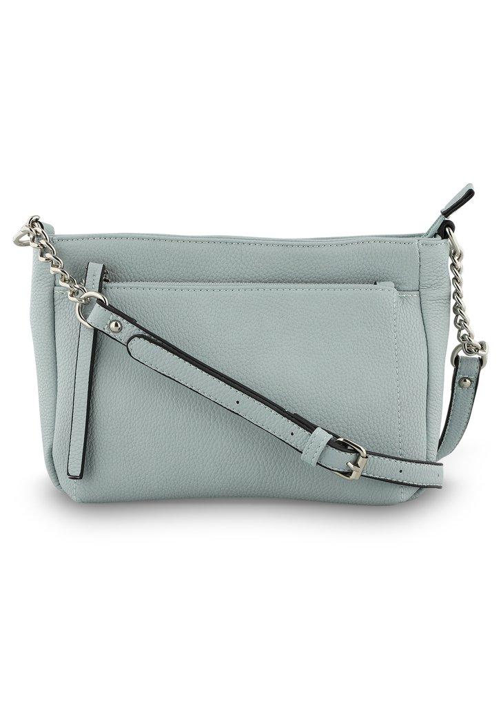 f6a81562bdd Lichtblauwe handtas met schouderlint - kunstleder van Modeno ...