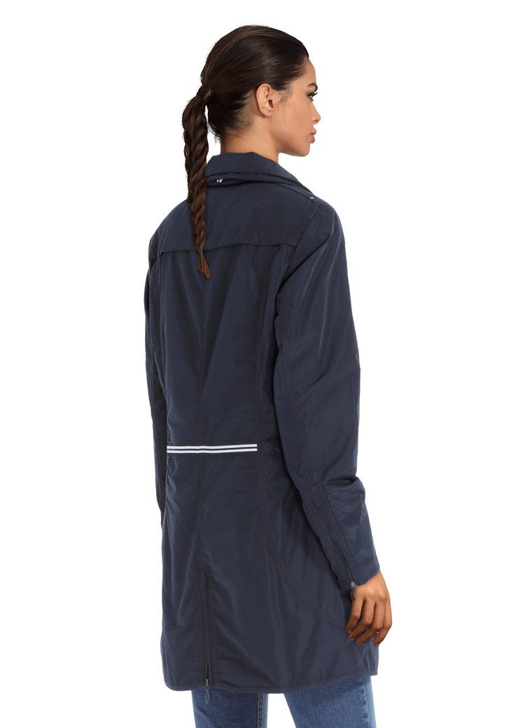 2bce52be50 Manteau long bleu avec capuche dissimulable (5177170) | e5 mode