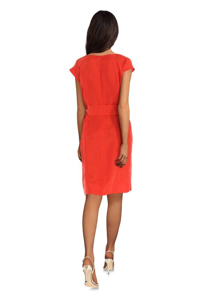 Oranje Rode Jurk.Oranje Rode Jurk Met Cupro Van D Auvry 5236279 E5 Mode