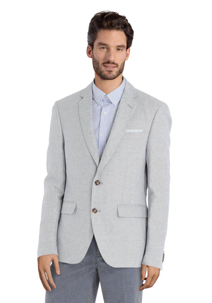 19c1b0e787786 Veste de costume gris clair en tissu structuré fin (5151407) | e5 mode