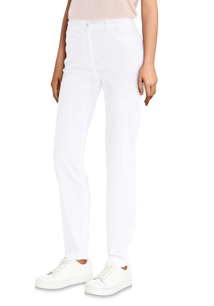 witte broek – slim fit van liberty island | 5202432 | e5 mode