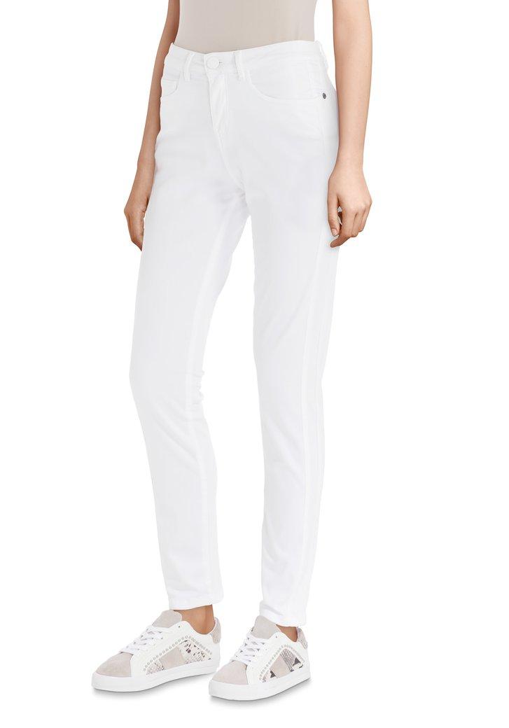 witte broek – slim fit van opus | 4782504 | e5 mode