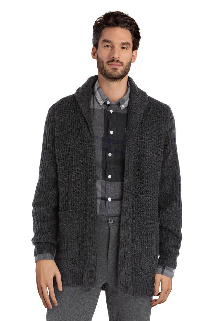 Afbeelding van Antraciet cardigan met wol