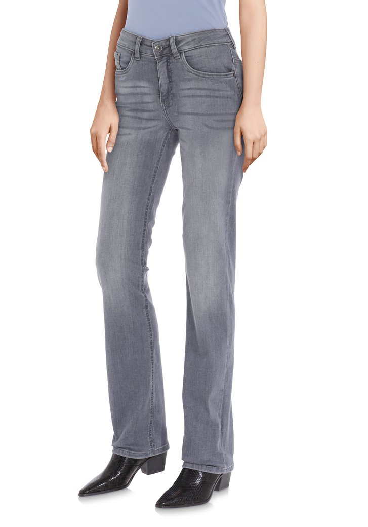 Antraciet jeans - Bridget - straight fit