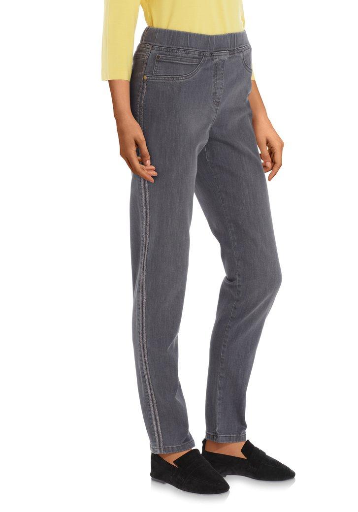 Afbeelding van Antraciet jeans met lurex - slim fit