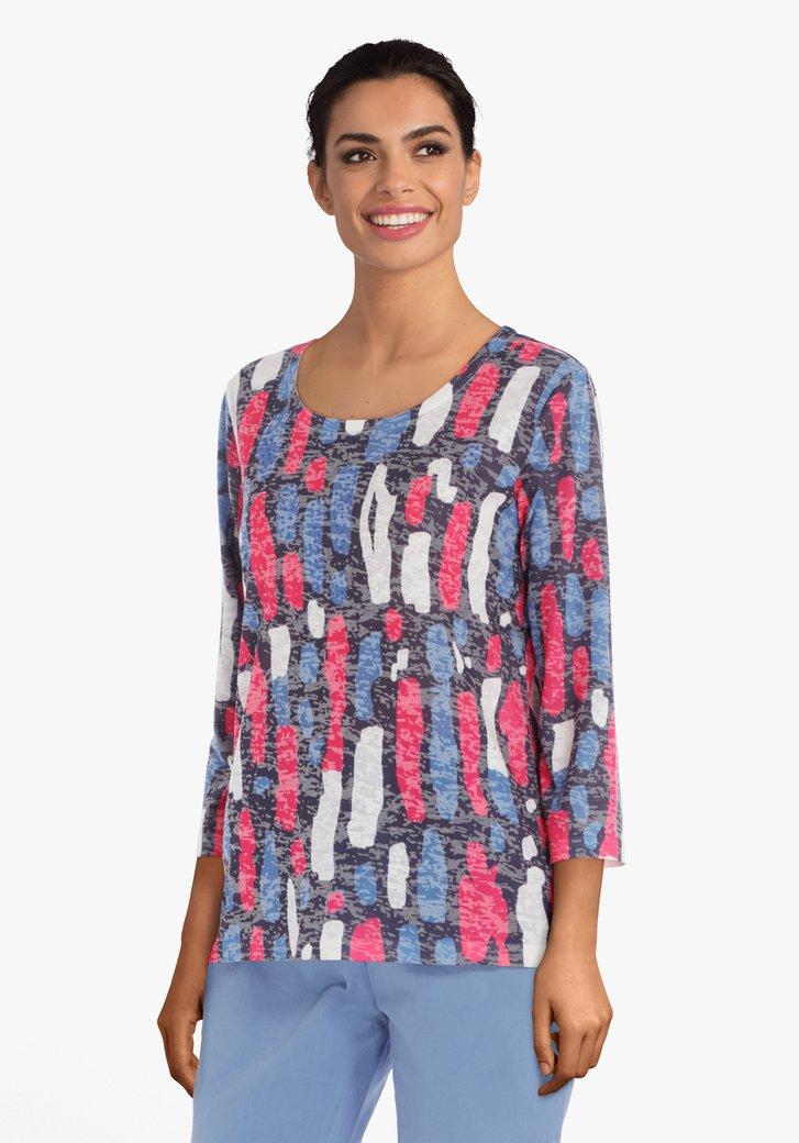 Afbeelding van Antraciet T-shirt met strass