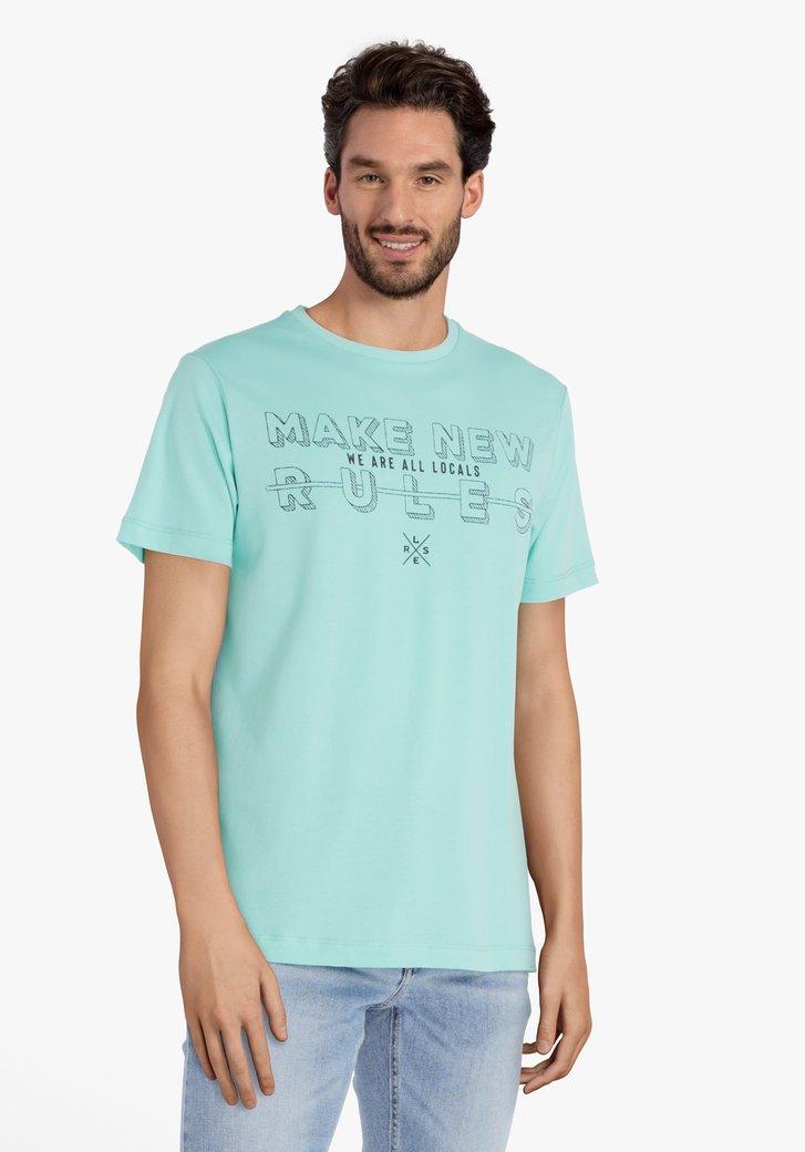 Aqua groen T-shirt