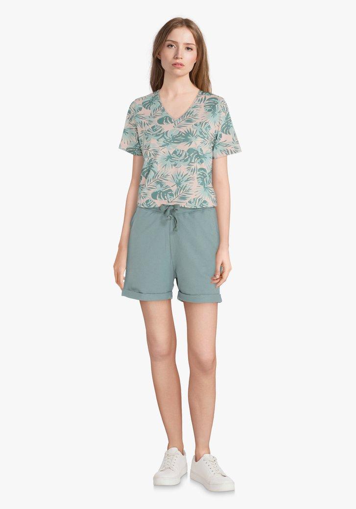 Aquagreen short met elastische taille