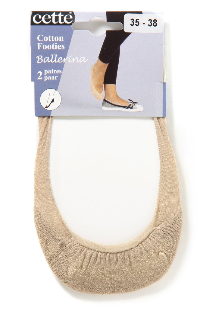 Bas champagne pour ballerines - 2 paires