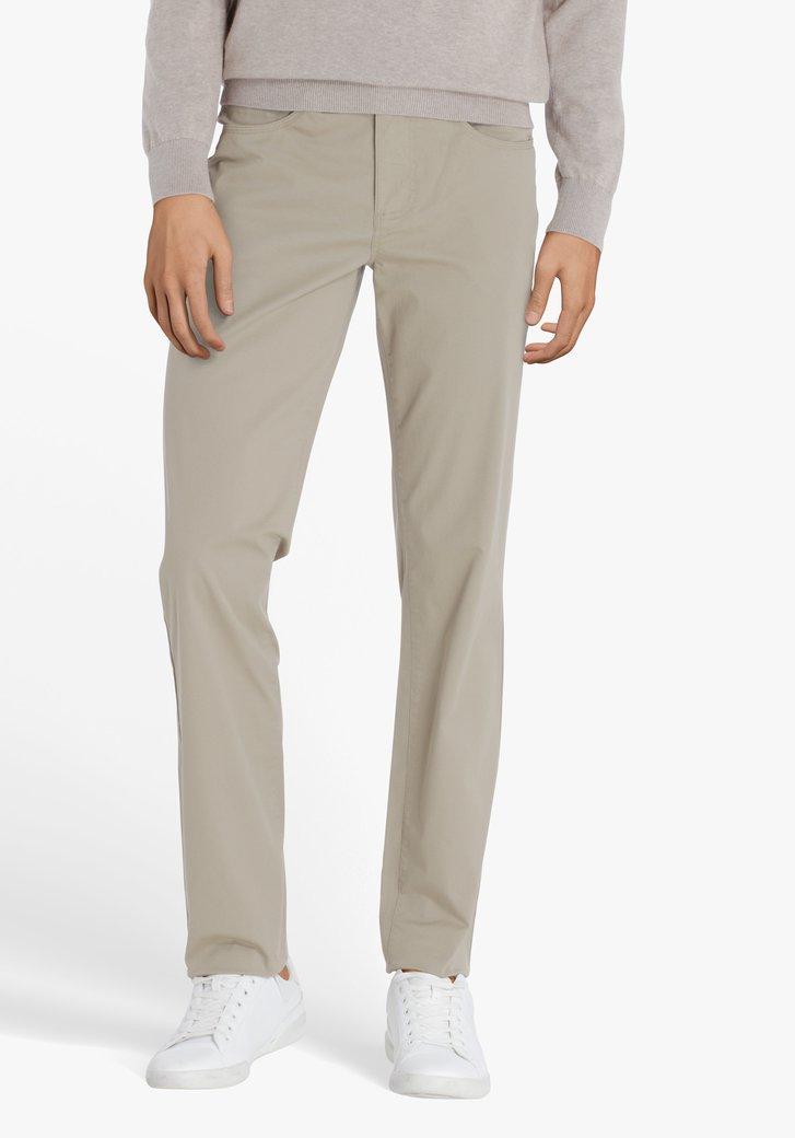 Beige 5-pocket broek - regular fit