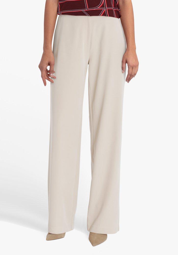 Beige geklede broek - straight fit
