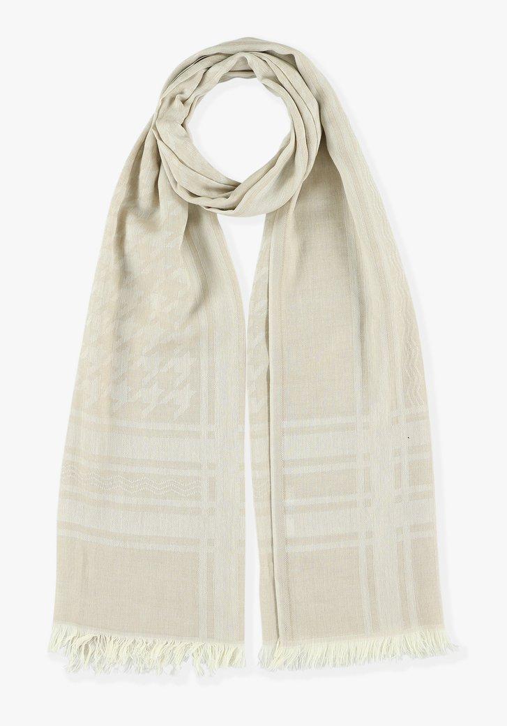 Beige sjaal met prints