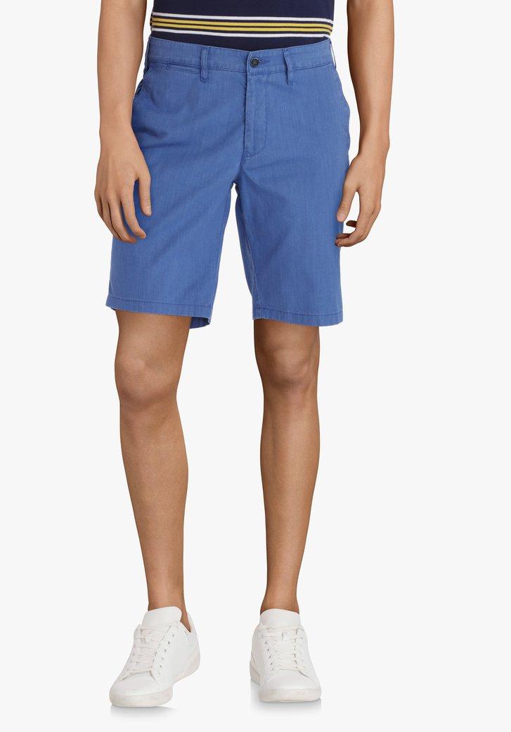 Bermuda bleu en coton stretch