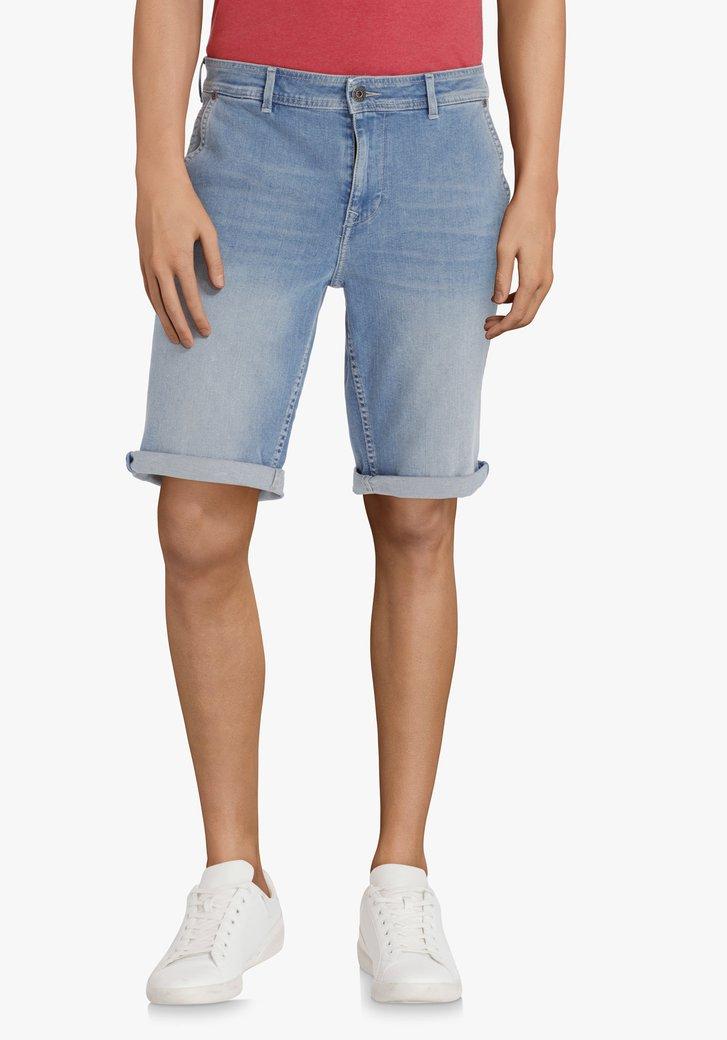 Bermuda en jean bleu clair