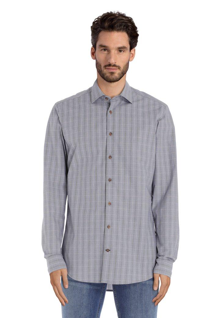 Afbeelding van Blauw geruit hemd - slim fit