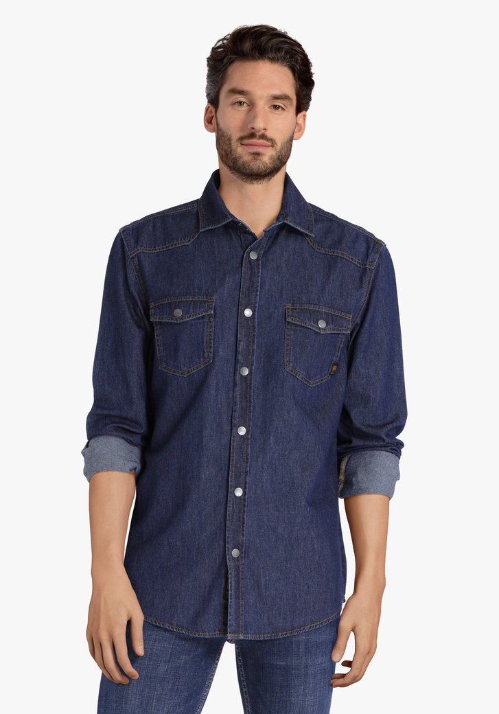 Blauw jeanshemd - regular fit