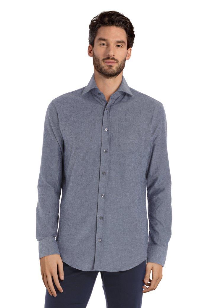 Afbeelding van Blauw katoenen hemd - slim fit