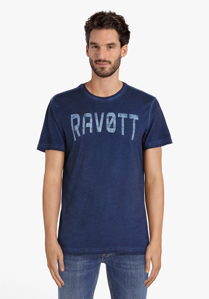 Blauw T-shirt met opschrift
