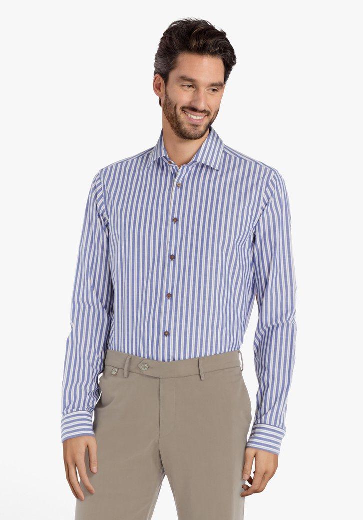 Afbeelding van Blauw-wit gestreept hemd – slim fit