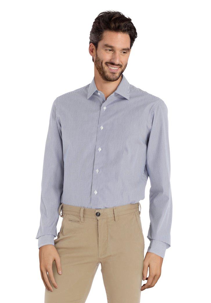 Afbeelding van Blauw-wit gestreept hemd - slim fit
