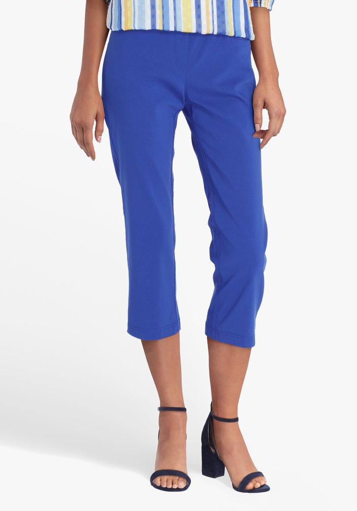 Blauwe 7/8 broek met elastische taille