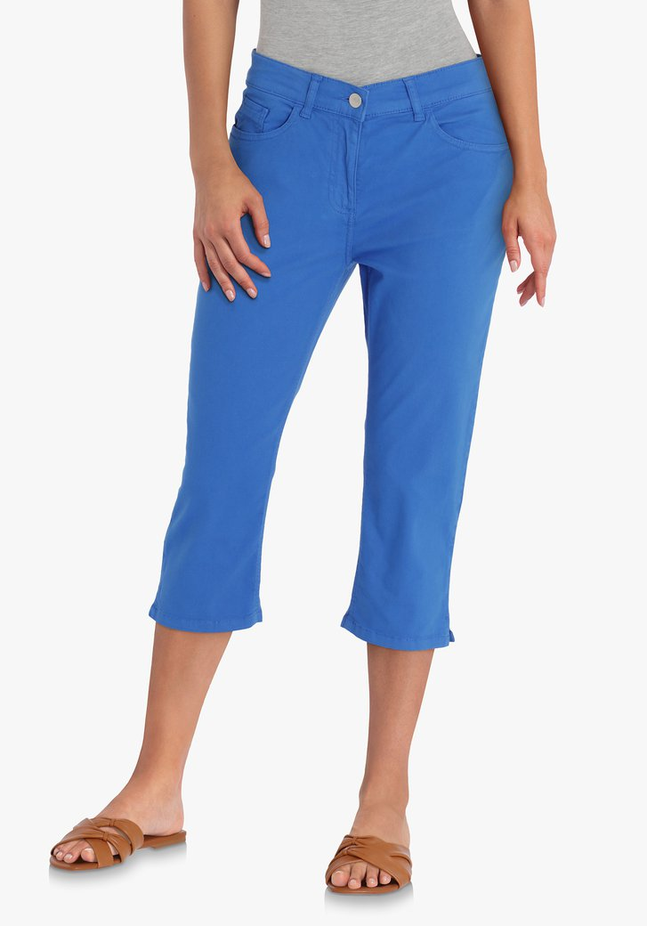 Blauwe driekwart broek